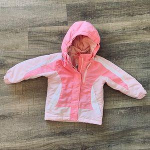 Wonder Kids Pink Ski Jacket Hooded Size 4 T